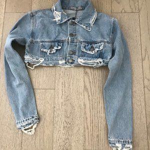 Carmar cropped jeans jacket LF New